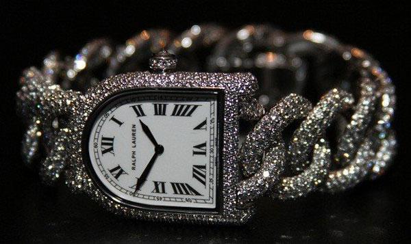 Extravagant Stirrup Diamond Link Watch by Ralph Lauren
