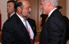 Carlos Slim and former U.S. President William J. Clinton, in conversation at the 2004 International Achievement Summit in Chicago.