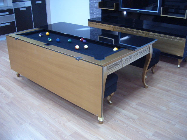 Luxury Pool Table Disguised as Dining Table (4)