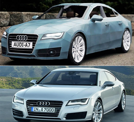 Papercraft Model of the 2012 Audi A7 at NY Auto Show (1)