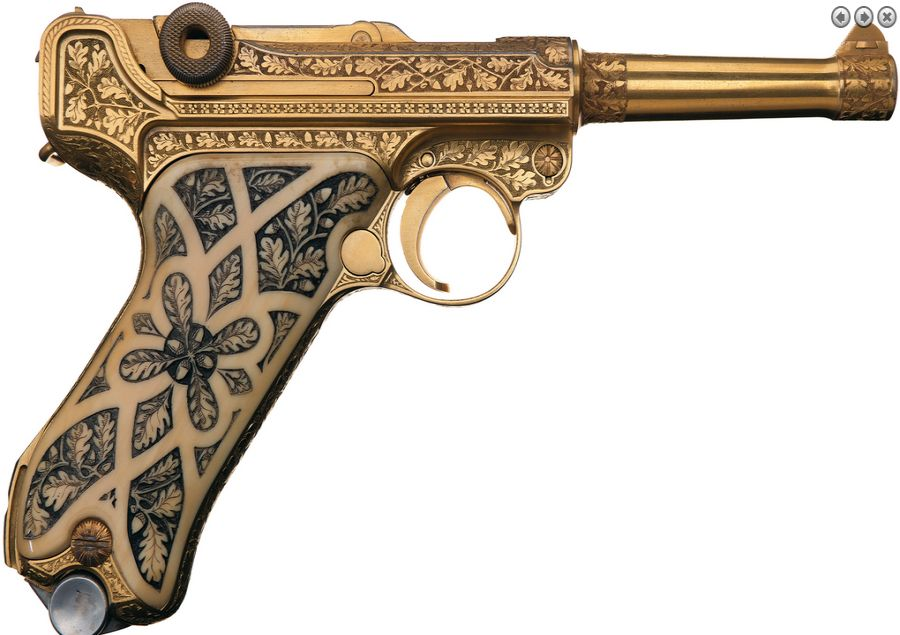 Gold plated Luger Pistol Picture Gallery 1 -