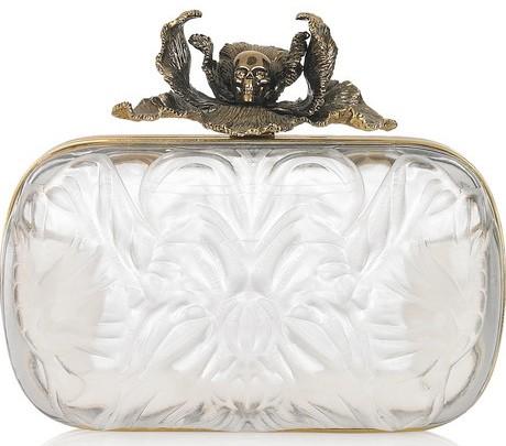 The Gothic-Chic Alexander McQueen Iris Plexiglas Box Clutch