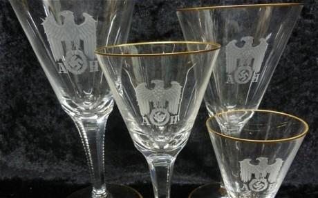 Hitler's set of wine glasses