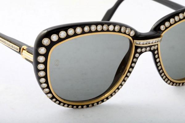 Dazzling Gold and Diamonds Cartier Sunglasses (3)