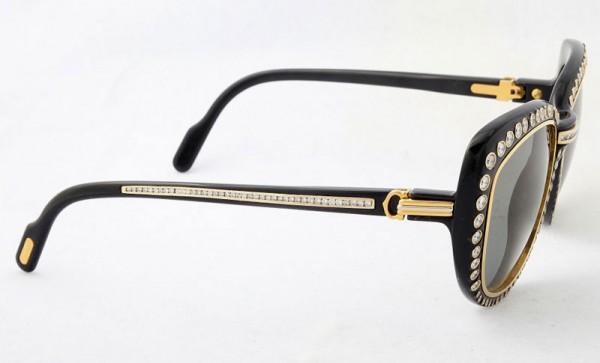 Dazzling Gold and Diamonds Cartier Sunglasses (1)