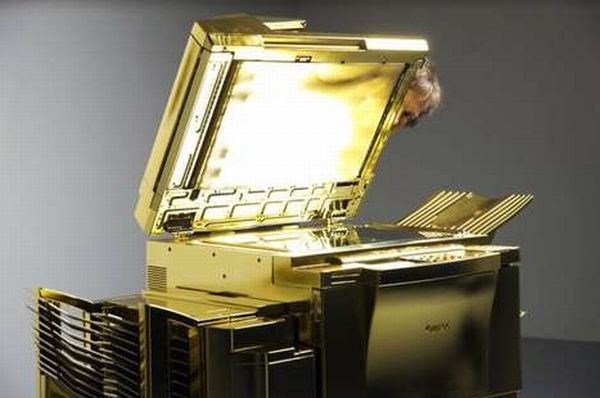 Gold-Plated Copy Machine by Yogi Proctor (3)
