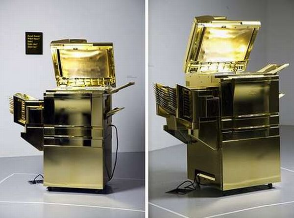 Gold-Plated Copy Machine by Yogi Proctor (2)
