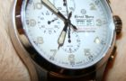Watch manufacturer Ernst Benz and fashion designer John Varvatos have entered a unique partnership when the Varvatos clothing stores became authorized dealers that sold Ernst Benz watches. Recently, new watches were added to the unique collection, bringing a plus of color and diversity to the lineup. Available in orange, cream and olive green, the watches are part of the Ernst Benz Chronoscope collection and flaunt a special vintage look. The 47 mm case holds a Swiss ETA Valjoux 7750 automatic chronograph movement. Priced at approximately $7,000, the Ernst Benz John Varvatos timepieces will probably be limited to 250 pieces for each model. (4)