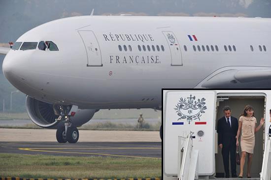 President Nicolas Sarkozy's Private Jet