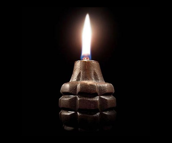 Authentic Hand Grenade Oil Lamps