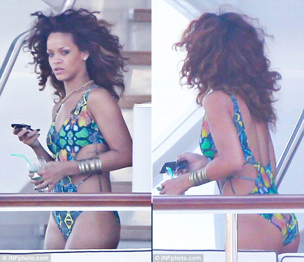 Rihanna Onboard the Luxurious Latitude Superyacht (5)