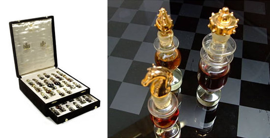 Glass Perfume Bottle Chess