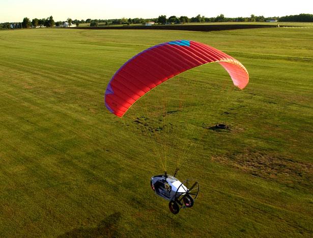 ParaMoto Trike Flying Electric Vehicle