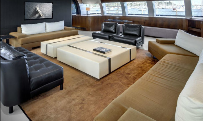 Designed by Philippe Briand, Vertigo is the seventh largest sailing yacht in the world and its owner is Rupert Murdoch, the famous magnate behind News Corporation. The beautiful 220-foot vessel boasts lovely interiors by renowned decorator Christian Liaigre. This is not the first time Liaigre is working for Murdoch and the business tycoon is not the first celebrity for whom Liaigre has worked. Karl Lagerfeld, Calvin Klein and other resonant names have also appealed to Liaigre's expertise and talent. Vertigo can accommodate 12 guests and a crew of 11 in five luxuriously appointed staterooms. Everything on the yacht is impressive and spells abundance, like the massive owner's suite or the convertible gym. Another vessel of Murdoch's that has been decorated by Christian Liaigre is the 184-ft Rosehearty superyacht from 2006. The billionaire apparently didn't have to sell his older yacht in order to buy Vertigo. Rosehearty was recently spotted near the Formentera island, where the magnate visited his 40-year-old son Lachlan Murdoch for his birthday anniversary. The yacht can comfortably accommodate ten guests in five suites and can be chartered for approximately $300,000 per week whenever Murdoch doesn't need it. (2)