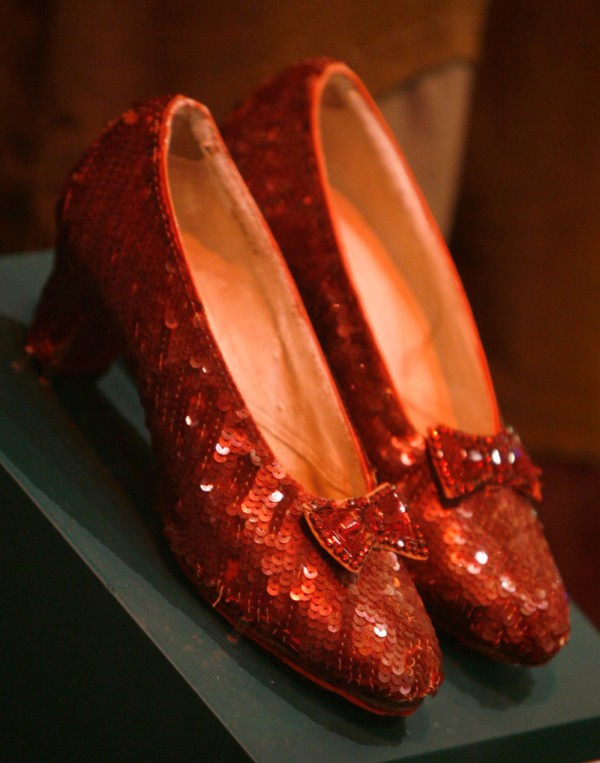 Wizard of Oz Ruby Red Shoes up for Auction (2)