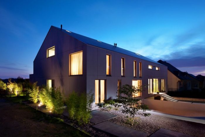 Two Row Houses in Luxembourg by Metaform (10)