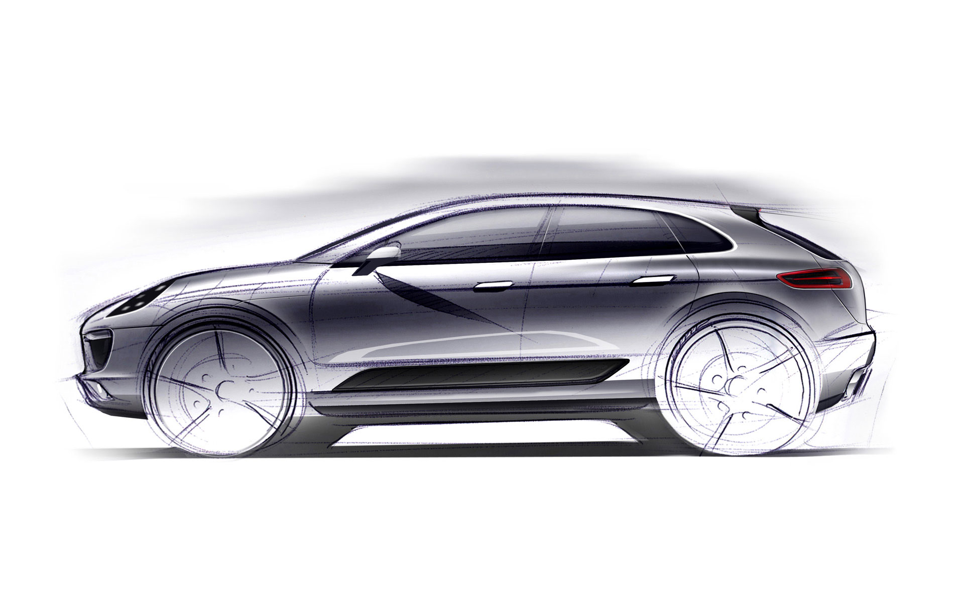 Porsche Releases a Teaser Sketch of Its New SUV: The Macan
