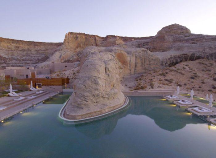 The Lavish Amangiri Resort in Canyon Point, Utah