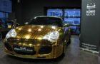 One-Off Golden Porsche 966 Turbo Cabriolet for Sale (1)