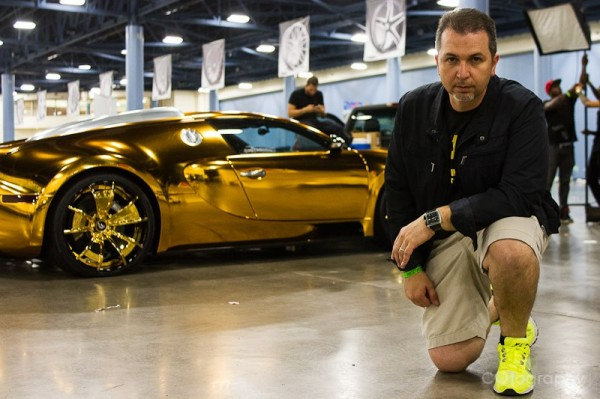 Golden Bugatti Veyron by Metro Wrapz for Flo Rida (1)