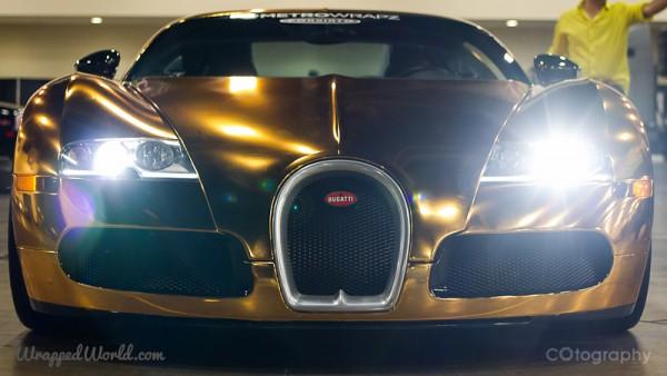 Golden Bugatti Veyron by Metro Wrapz for Flo Rida (6)