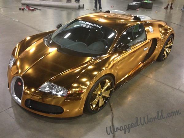 Golden Bugatti Veyron by Metro Wrapz for Flo Rida (5)