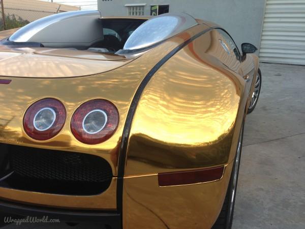 Golden Bugatti Veyron by Metro Wrapz for Flo Rida (4)