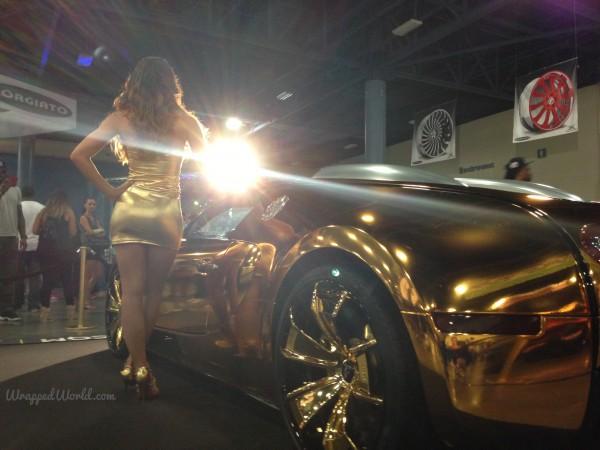 Golden Bugatti Veyron by Metro Wrapz for Flo Rida (3)