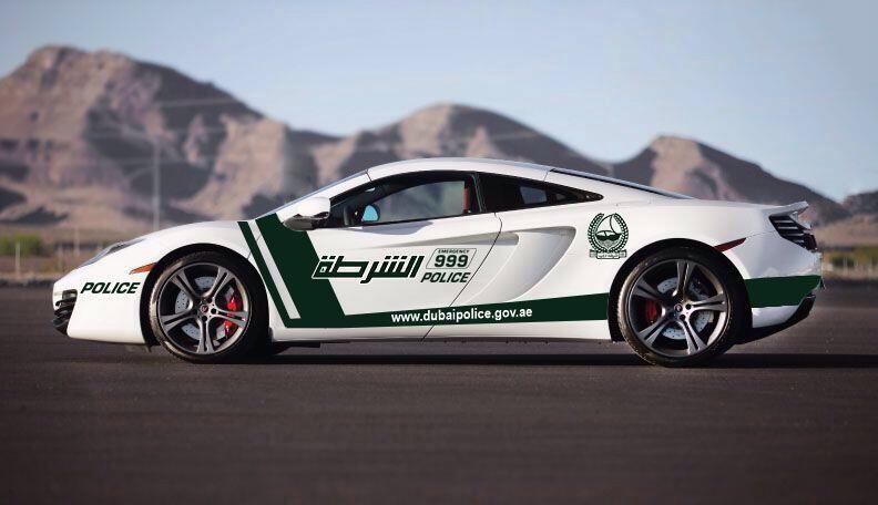 Dubai Police Adds McLaren 12C to Their Supercar Roster
