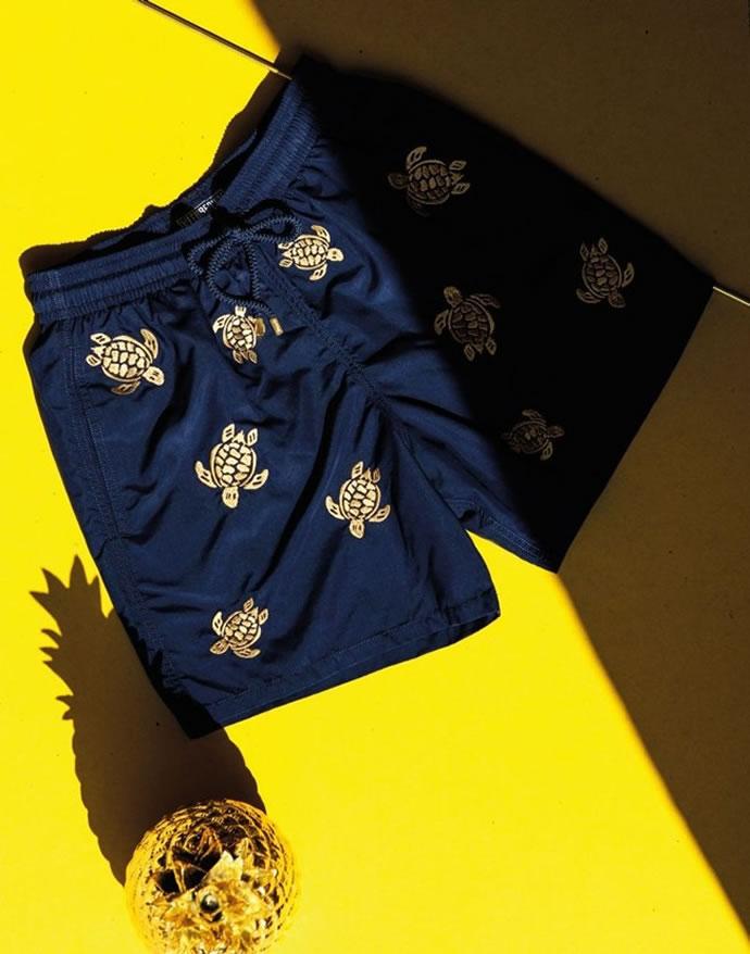 Luxurious Golden Turtle Swim Trunks By Vilebrequin