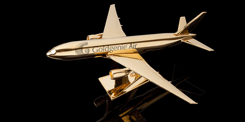 Gold-Plated Model Airplane By Goldgenie