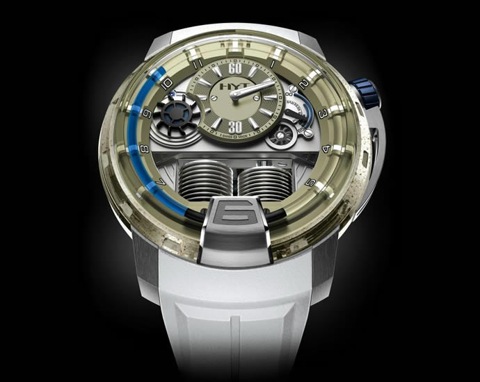 Unique HYT H1 Sand Barth Timepiece (1)