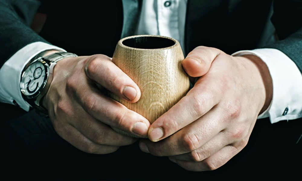 Subtle And Practical OKA Charred Wood Tumbler