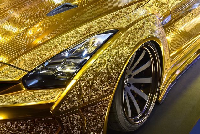 Gold-Plated Nissan R35 GT-R Is Worth $1 Million 6