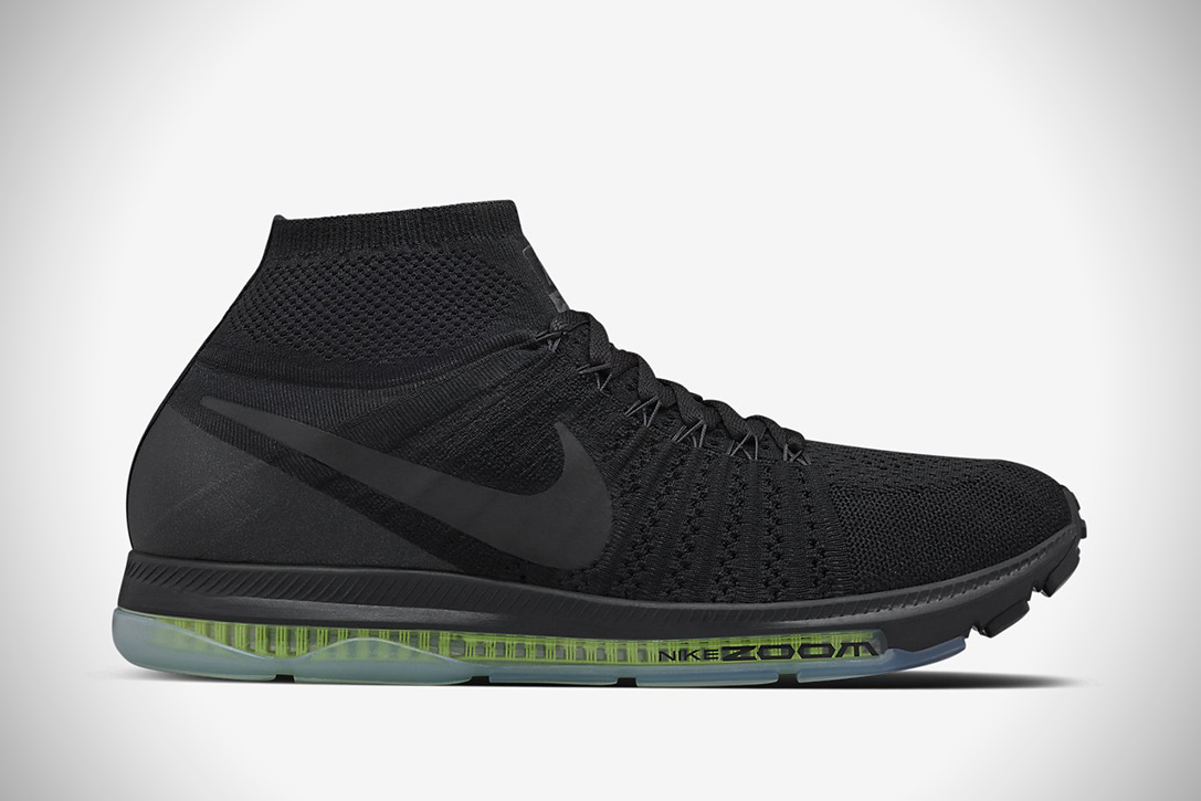 All Out FlyKnit Zoom Triple Black By Nike (6)