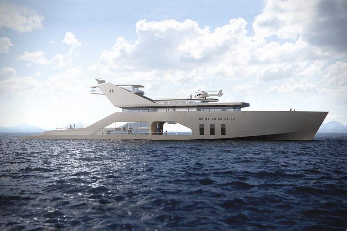 Imposing Hybrid Megayacht By Hareide Design 1