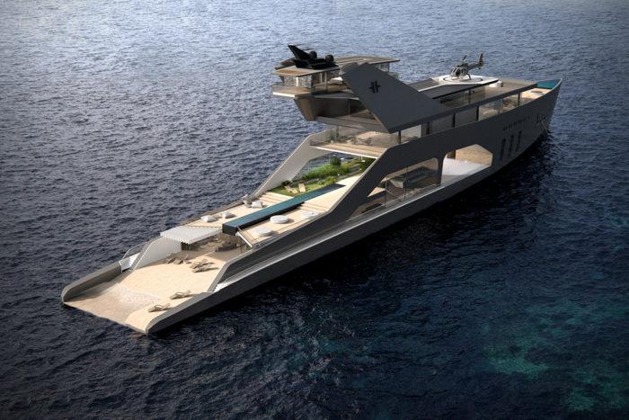 Imposing Hybrid Megayacht By Hareide Design 2