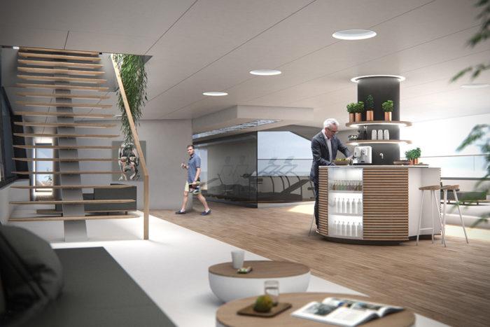 Imposing Hybrid Megayacht By Hareide Design 7