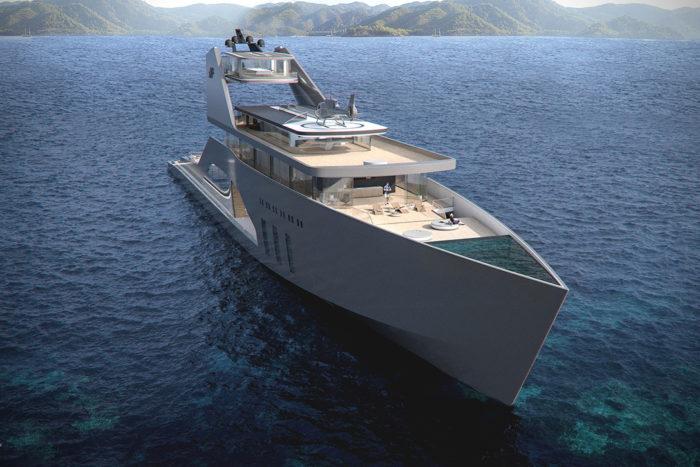 Imposing Hybrid Megayacht By Hareide Design 8