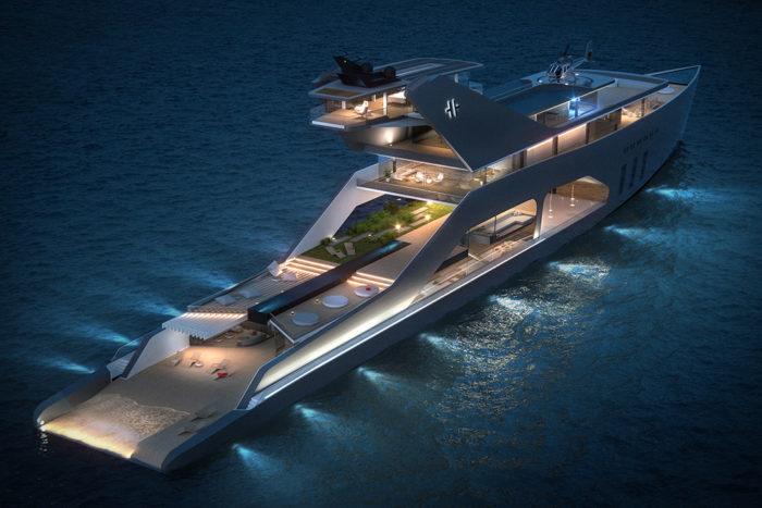 Imposing Hybrid Megayacht By Hareide Design 9