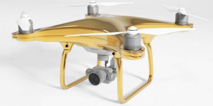 This Luxurious DJI Phantom Drone Is Gold Plated 1