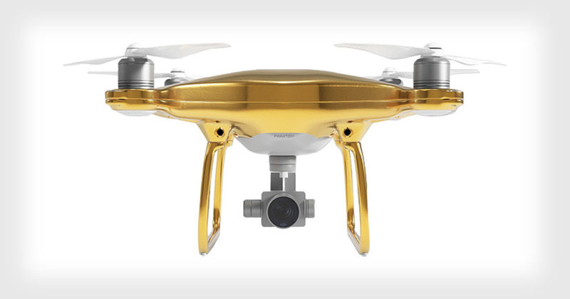 This Luxurious DJI Phantom Drone Is Gold Plated 2
