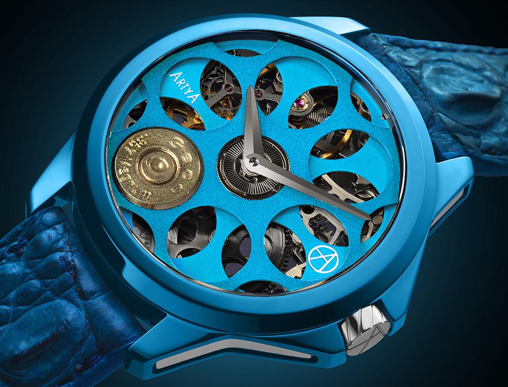 ArtyA Son Of A Gun Russian Roulette Blue Blood Watch 1