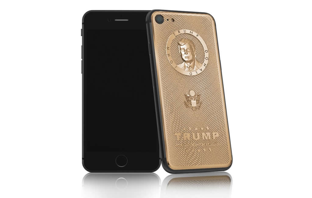 Gold Plated iPhone 7 Has A Donald Trump Engraving 1