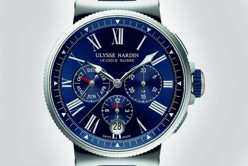 Marine Chronograph Annual Calendar Watch By Ulysse Nardin 1