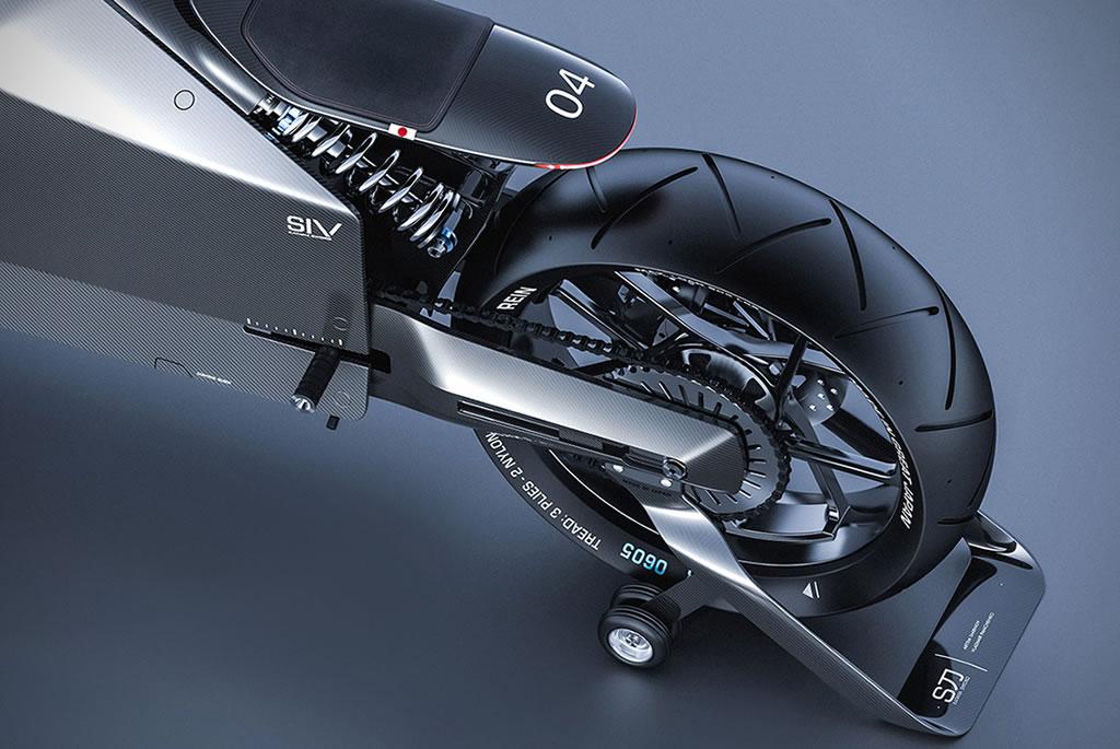 Beastly Samurai Carbon Fiber Motorcycle 7
