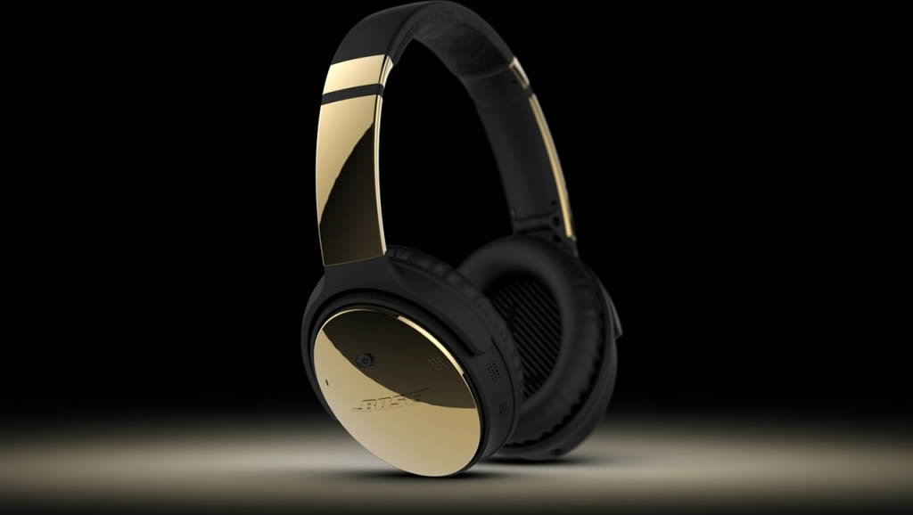 ColorWare Creates Bose QC35 Headphones In 24K Gold 2