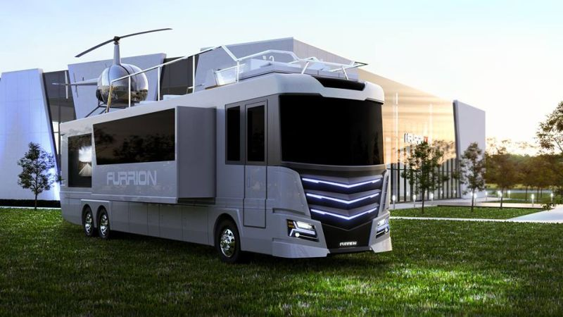 Furrion Elysium Luxury RV Has Its Own Mini Helicopter 1