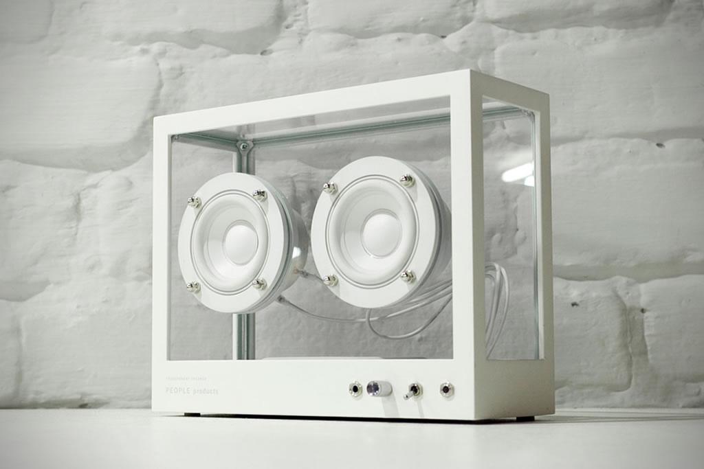 People People Creates A Small Transparent Speaker 1