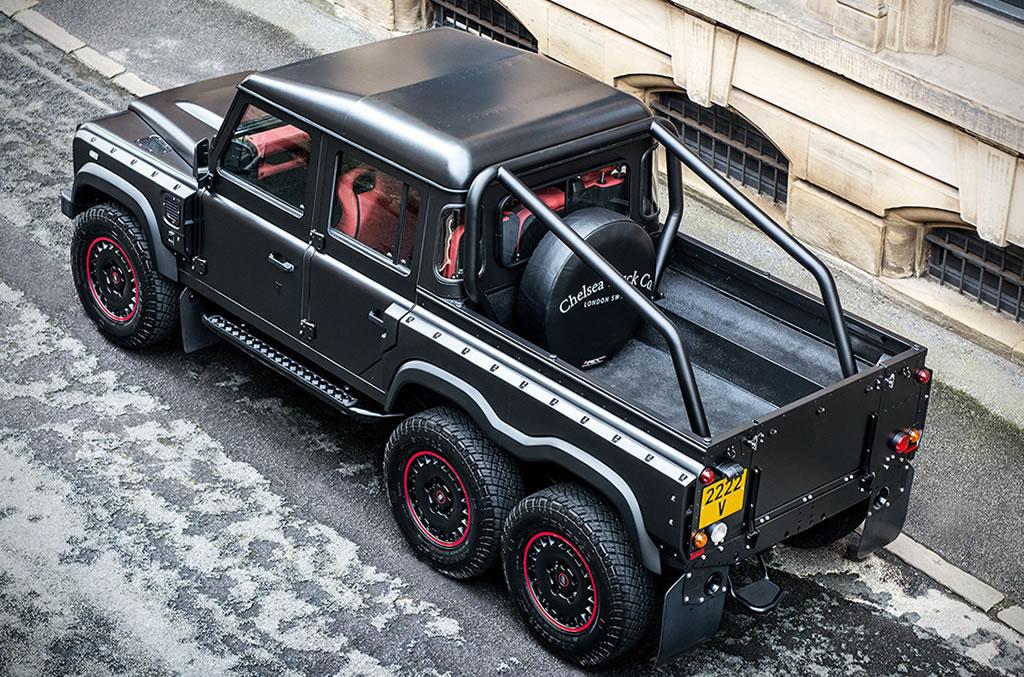 Beastly Flying Huntsman Land Rover Defender 6×6 Pickup 4